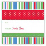 Holiday Style Square Sticker