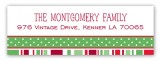 Holiday Style Traditional Address Label