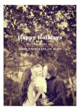 Holiday Swag White Photo Card