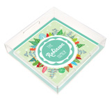 Holiday Trees Square Lucite Tray