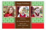 Holiday Trellis Three Photo Card