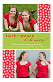Holiday Triple Dots Photo Card