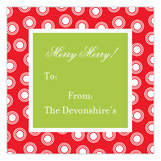 Holiday Triple Dots Square Sticker