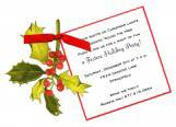 Die-Cut Holly Invitation