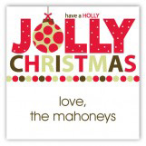 Holly Jolly Square Sticker