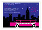 Hot Pink Bachelorette Limo Invitation