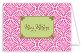 Hot Pink Floral Batik Folded Note Card