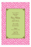 Hot Pink Floral Batik Invitation