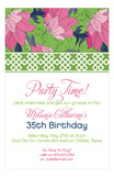 Hot Pink Lime China Floral Invitation