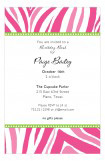 Hot Pink Zebra Invitation