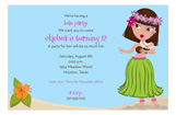 Hula Girl Invitation