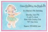 Hula Girl Invitation with Glitter Embellishment