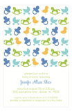Iconic Baby Blue Invitation