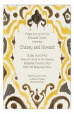 Ikat Ochre Invitation