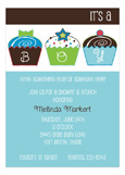Its a Boy Cupcakes Invitation