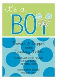 Its a Boy Diaper Pin Invitation