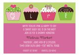 Its a Girl Cupcakes Invitation
