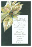 Ivory on Green Velvet Invitation