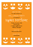 Jack-O-Lantern Faces Invitation