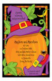 Jack O Lantern & Witch Invitation