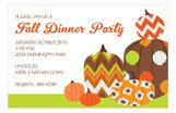 Jazzy Pumpkins Fall Party Invitations