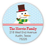 Jolly Snowman Round Sticker