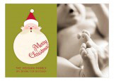 Jolly St. Nick Horizontal Photo Card