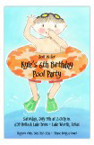 Jump In Boy Pool Party Invitation