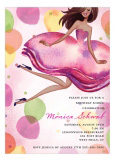 Jumping Party Girl Multicultural Invitation