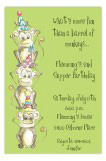 Jungle Gym Party Monkeys Invitation