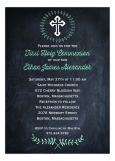 Chalkboard First Communion Invitation