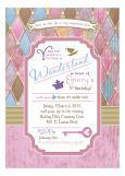 Pastel Harlequin Mad Tea Party Invitation