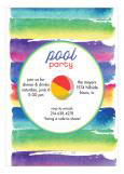 Bright Pool Party Invitation
