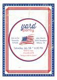 Patriotic Flag Backyard Party Invitations