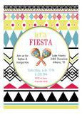 Fiesta Maracas Party Invitation