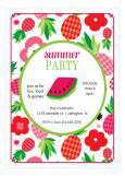 Watermelon & Pineapple Party Invitations