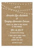 Burlap Rustic Swag Light Party Invitation