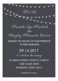 Charcoal Black Swag Light Party Invitation