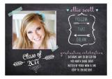 Washi Tape Chalkboard Graduation Announcement Photo Card