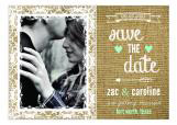 Burlap, Lace and Mint Save the Date