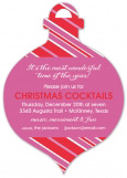 Keep Calm And Jingle On Ornament Invitation