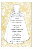 Khaki Damask Bride Invitation