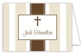 Khaki Stripe Cross Folded Note Card