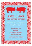 Kissing Pigs BBQ Invitation