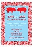 Kissing Pigs BBQ Invitation