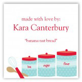 Kitchen Canisters Gift Tag