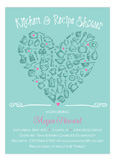 Kitchen Love Kitchen and Recipe Shower Invitation