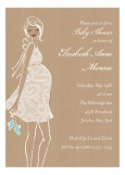 Kraft Baby Shower Blue Invitation