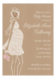 Kraft Baby Shower Pink Invitation