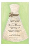 Lace Bride Green Invitation